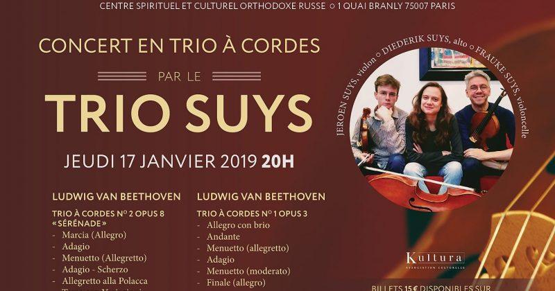 Trio Suys en concert à Paris